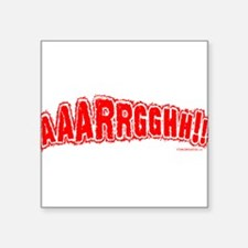 """AAARGH Square Sticker 3"""" x 3"""""""