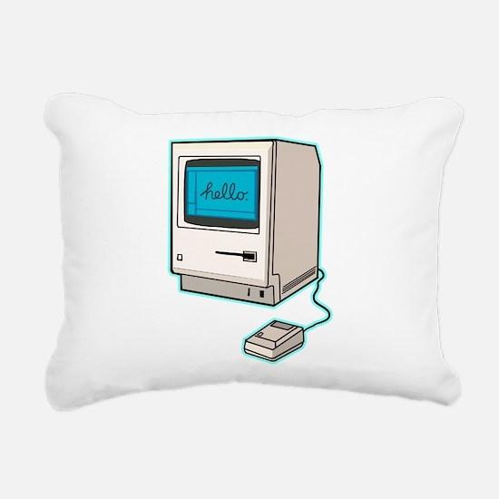 Classic Mac Rectangular Canvas Pillow
