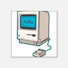 """Classic Mac Square Sticker 3"""" x 3"""""""