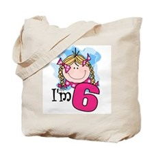 I'm 6 Blond Girl Tote Bag