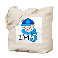 I'm 5 Boy Tote Bag