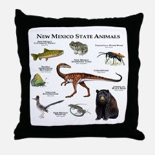 New Mexico State Animals Throw Pillow
