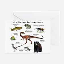 New Mexico State Animals Greeting Card