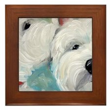 WESTIE DOG Framed Tile