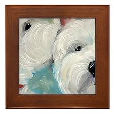 WESTIE DOG Framed Tile