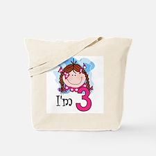 I'm 3 Redhead Girl Tote Bag