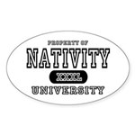 Nativity University Oval Sticker