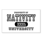Nativity University Rectangle Sticker