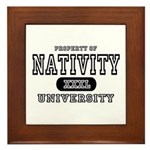 Nativity University Framed Tile