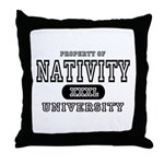 Nativity University Throw Pillow
