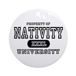 Nativity University Ornament (Round)