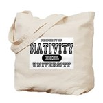 Nativity University Tote Bag