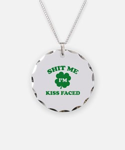 Shit Me I'm Kiss Faced Necklace