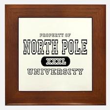 North Pole University Framed Tile