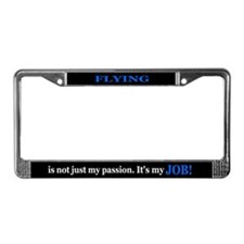 FLYING (JOB) BLUE  License Plate Frame