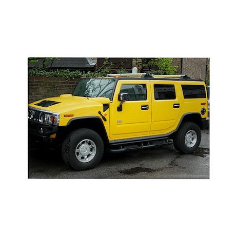 Hummer 4x4 vehicle - Rectangle Magnet (100 pk)