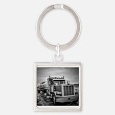 Big Red On The Job Square Keychain