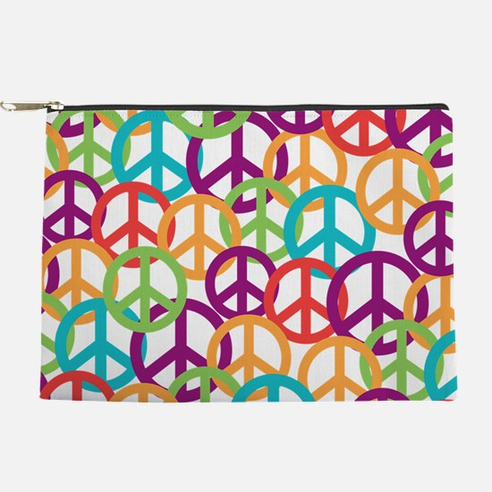 Colorful Peace Symbols Makeup Pouch
