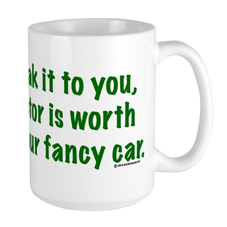 my tractor green text Mugs