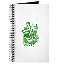 Pretty green christian cross 5 U P Journal