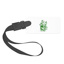Pretty green christian cross 5 U P Luggage Tag