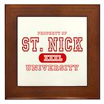 St. Nick University Framed Tile