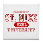 St. Nick University Tile Coaster