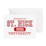 St. Nick University Greeting Cards (Pk of 10)