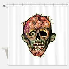 ZOMBIE HEAD Shower Curtain