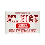 St. Nick University Rectangle Magnet