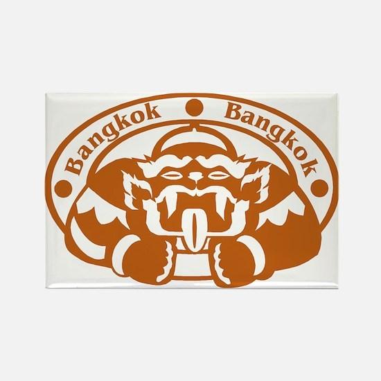 Bangkok Passport Stamp Rectangle Magnet