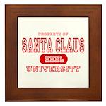 Santa Claus University Framed Tile