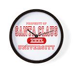 Santa Claus University Wall Clock