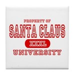 Santa Claus University Tile Coaster