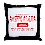 Santa Claus University Throw Pillow