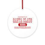 Santa Claus University Ornament (Round)