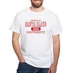 Santa Claus University White T-Shirt