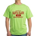 Santa Claus University Green T-Shirt