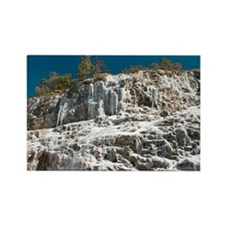 A frozen waterfall - Rectangle Magnet (100 pk)