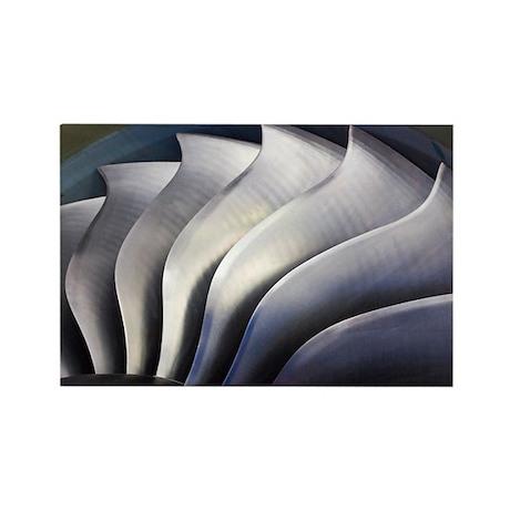 S-curve fan blades - Rectangle Magnet (100 pk)