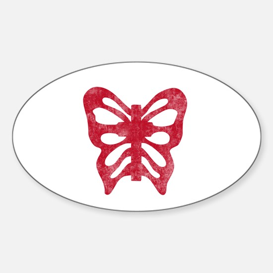 Pretty red christian cross 1 L h Decal