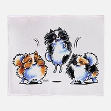Parti Pomeranians Throw Blanket