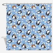 Parti Pomeranians Shower Curtain