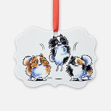 Parti Pomeranians Ornament