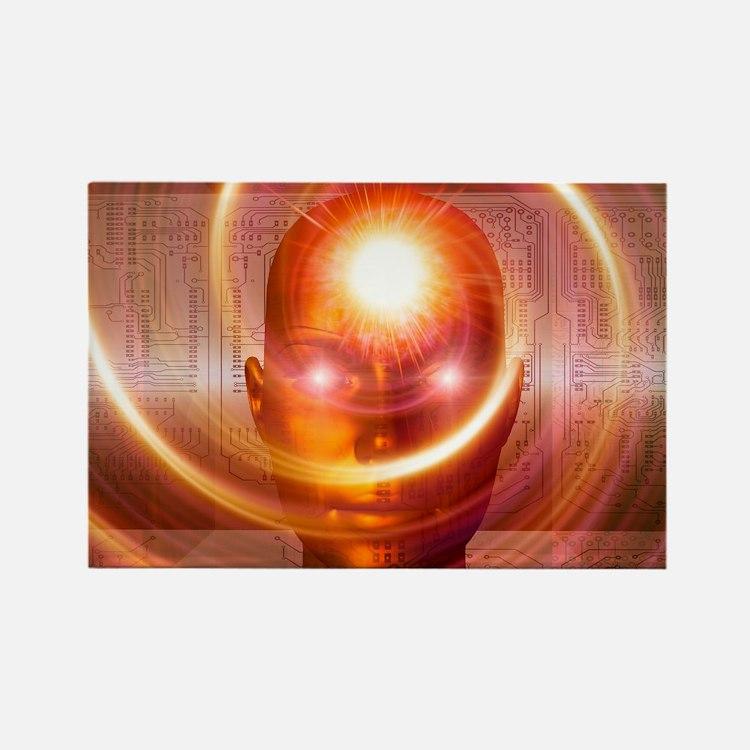 e, artwork - Rectangle Magnet (100 pk)