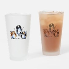 Parti Pomeranians Drinking Glass