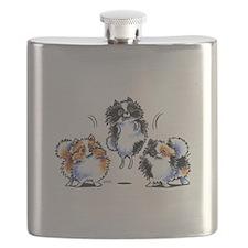 Parti Pomeranians Flask