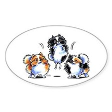 Parti Pomeranians Decal