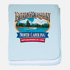 Lake Norman Waterfront Logo baby blanket