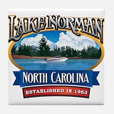 Lake Norman Waterfront Logo Tile Coaster
